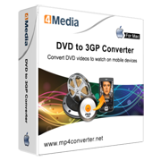 4Media DVD to 3GP Converter for Mac