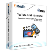 4Media YouTube to MP3 Converter for Mac