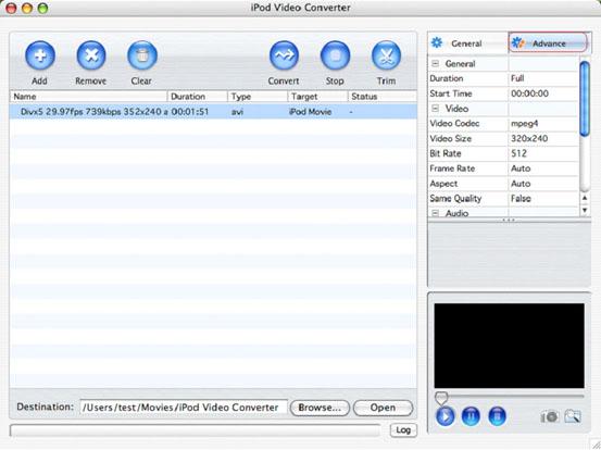 How to convert AVI to iPod Mac
