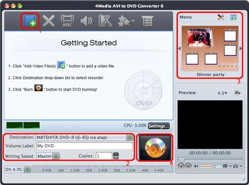 Burn AVI to DVD on Mac