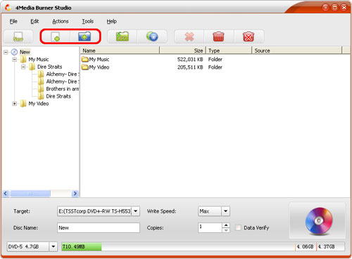 How to burn files to data CD