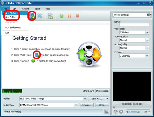 How to convert video to DPG
