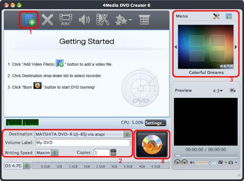 Burn MPEG, DivX, AVI to DVD Mac