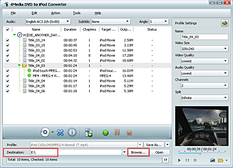 how to convert dvd to iPod movie