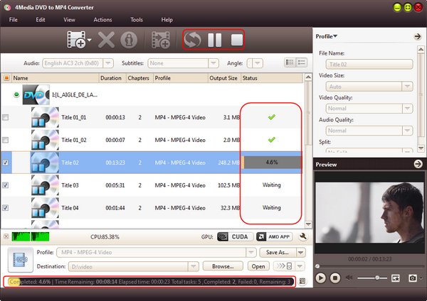 How to rip DVD disc to MP4