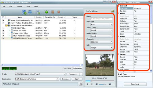 Convert FLV to MP4 Video