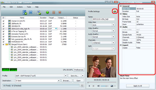 FLV to SWF Converting