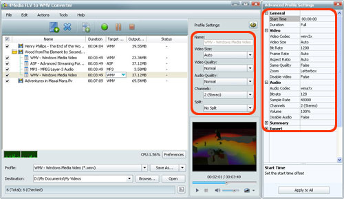 FLV to WMV conversion software