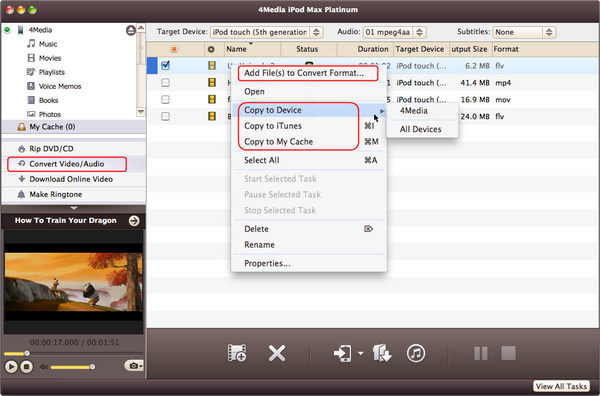 Copy any video/audio to iPod/iPhone