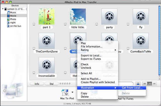 4Media iPod to Mac Transfer