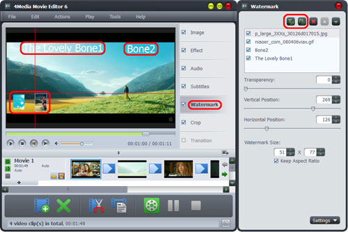 Create movies from MPEG video