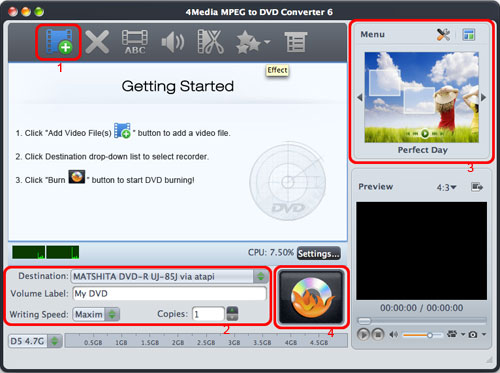 Burn MPEG to DVD for Mac