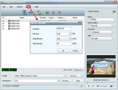 How to convert MTS to MPEG