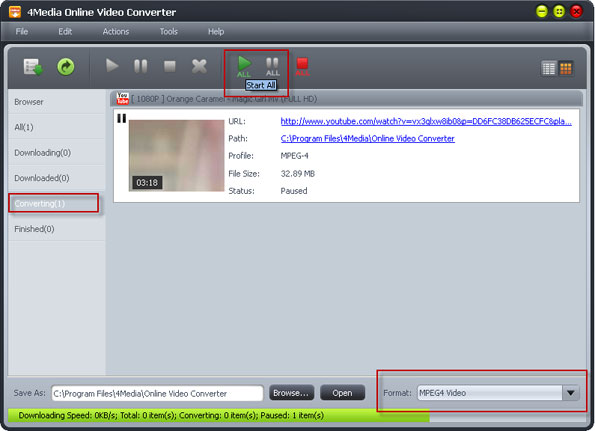 Convert YouTube online videos