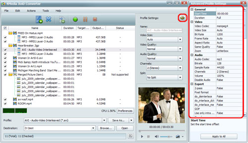Convert Video to XviD format