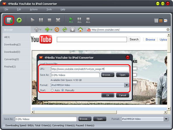 How to convert YouTube Video to iPod