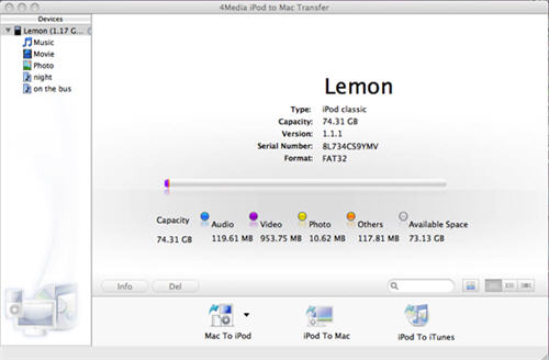 Transfer iPod music to Mac computer